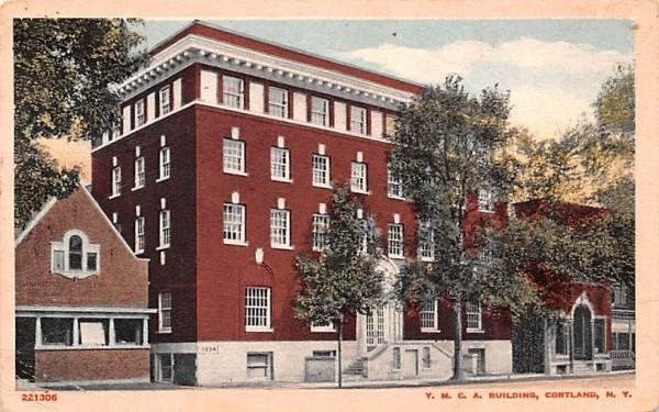 YMCA Building Cortland, New York Postcard
