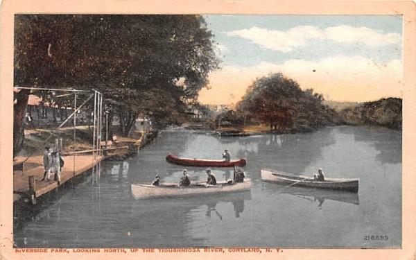 Riverside Park Cortland, New York Postcard