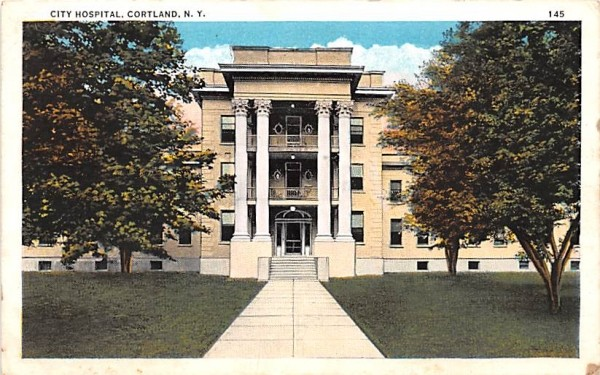 City Hospital Cortland, New York Postcard