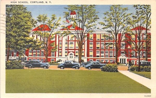 High School Cortland, New York Postcard