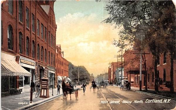 Main Street Cortland, New York Postcard