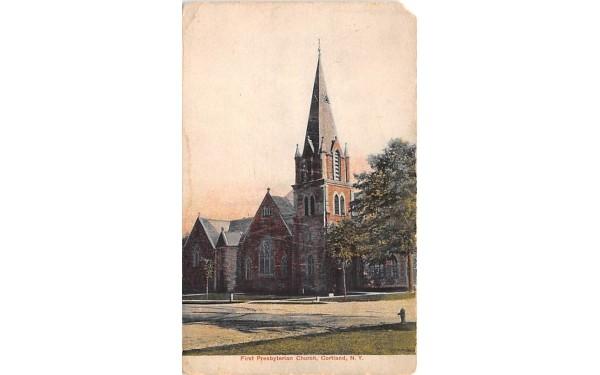 First Presbyterian Church Cortland, New York Postcard