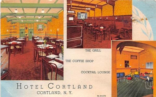 Hotel Cortland New York Postcard