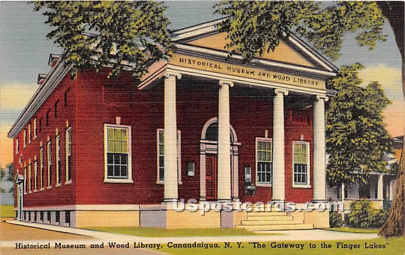 Historical Museum & Wood Library - Canandaigua, New York NY Postcard