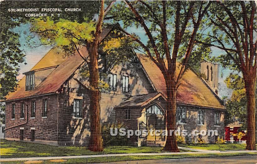 Methodist Episcopal Church - Coxsackie, New York NY Postcard