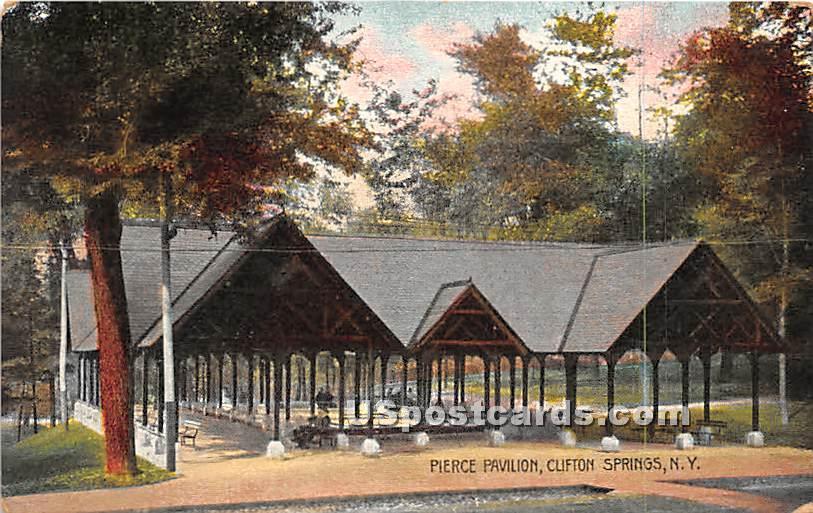 Pierce Pavilion - Clifton Springs, New York NY Postcard