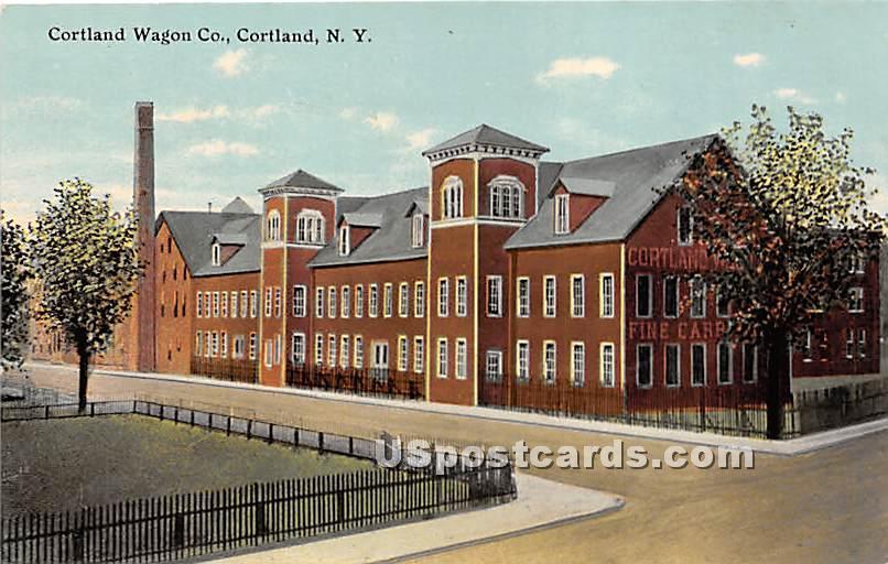 Cortland Wagon Co - New York NY Postcard