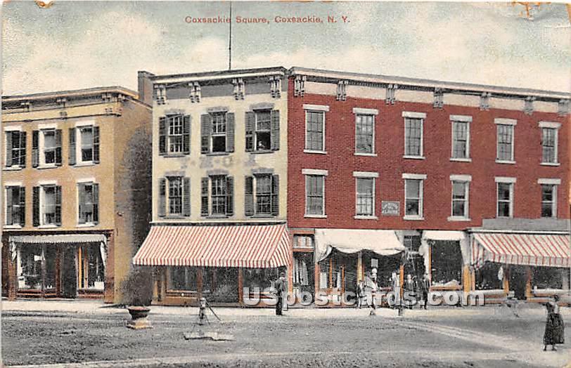 Coxsackie Square - New York NY Postcard
