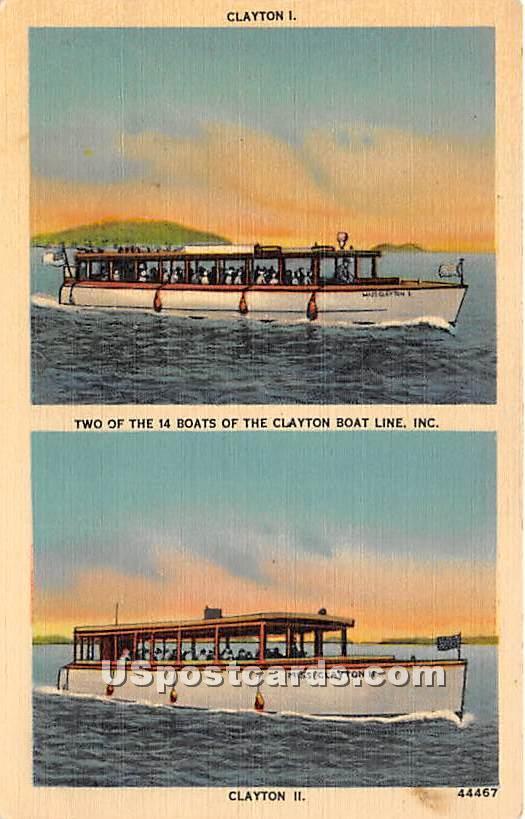 Clayton I & II - New York NY Postcard