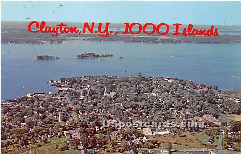 Thousand Islands - Clayton, New York NY Postcard