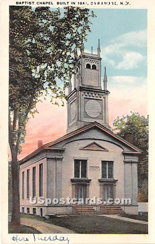 Baptist Chapel 1841 - Cambridge, New York NY Postcard