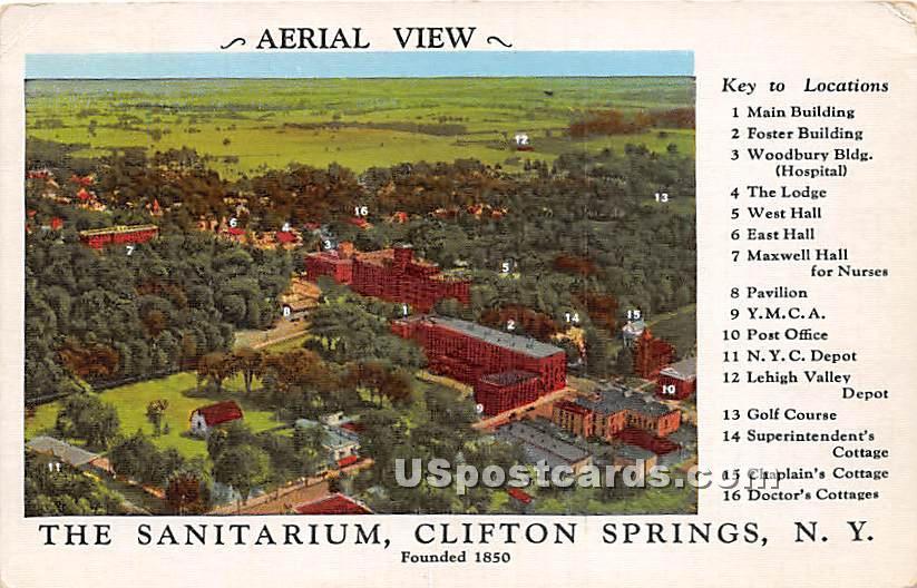 Sanitarium - Clifton Springs, New York NY Postcard