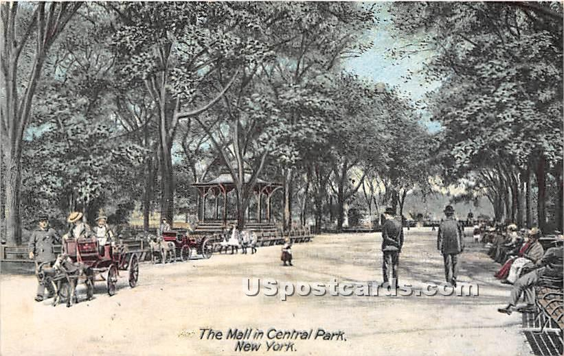 The Mall - Central Park, New York NY Postcard