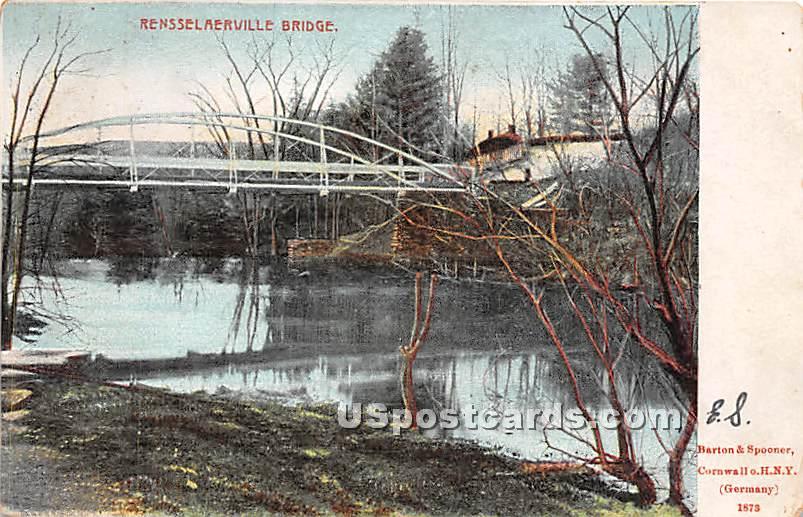 Rensselaerville Bridge - Cornwall, New York NY Postcard