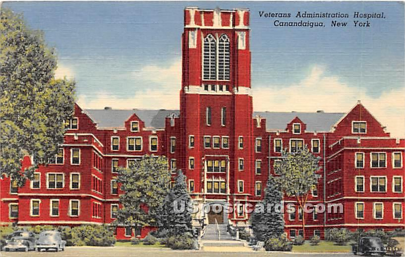 Veterans Administration Hospital - Canandaigua, New York NY Postcard