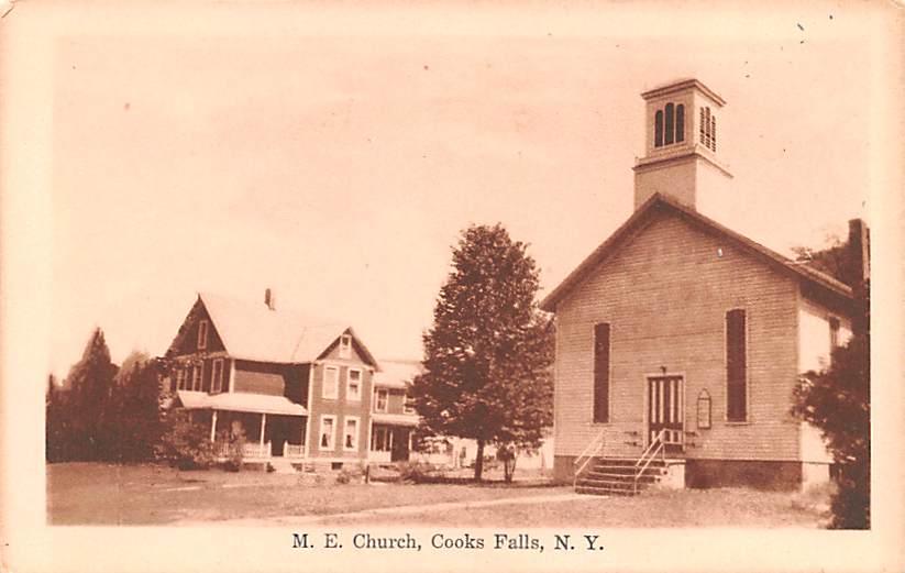 M.E. Church - Cooks Falls, New York NY Postcard