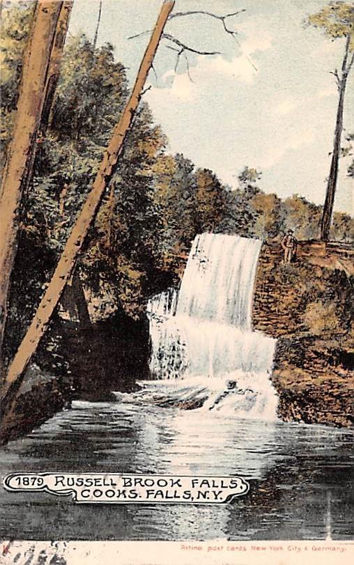 Russell Brook Fallas - Cooks Falls, New York NY Postcard