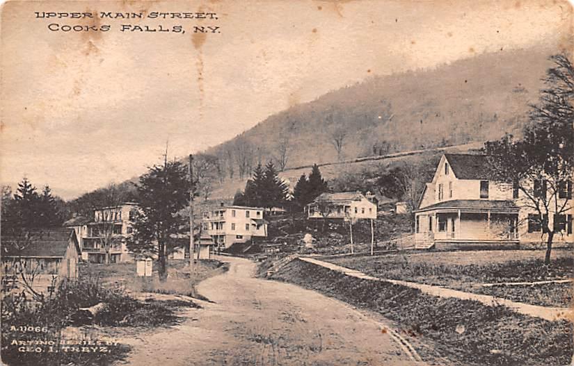 Upper Main Street - Cooks Falls, New York NY Postcard