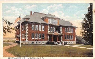 Cornwall High School Cornwall on Hudson, New York Postcard