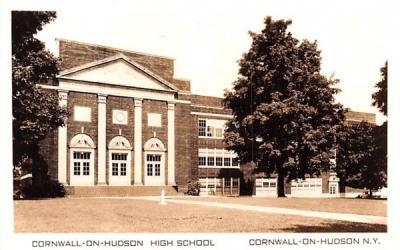 Cornwall on Hudson High School New York Postcard