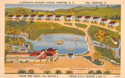 Lawrence Tourist Cabins Chester, New York Postcard