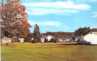 Brown's Motel Cazenovia, New York Postcard