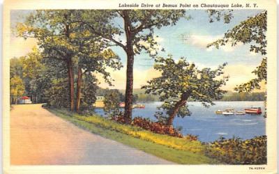 Lakeside Drive Chautauqua, New York Postcard