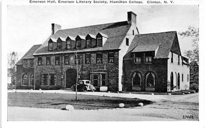 Emerson Hall Clinton, New York Postcard