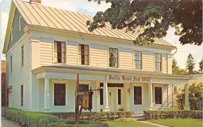 Bulls Head Inn 1802 Cobleskill, New York Postcard