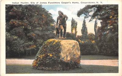 Indian Hunter Cooperstown, New York Postcard