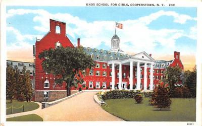 Knox School for Girls Cooperstown, New York Postcard
