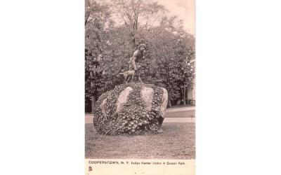 Indian Hunter Statue Cooperstown, New York Postcard