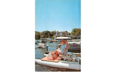 Lakefront Motel Cooperstown, New York Postcard