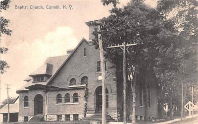 Baptist Church Corinth, New York Postcard