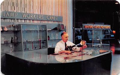Lampworker Corning, New York Postcard
