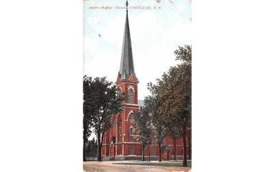 Baptist Church Cortland, New York Postcard