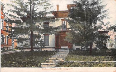 Cortland Hospital New York Postcard