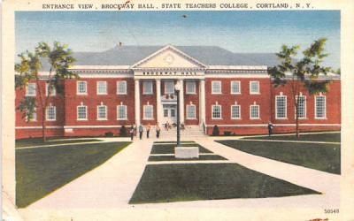 Brockway Hall Cortland, New York Postcard
