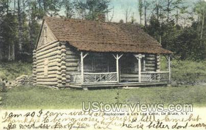 Mapledoram & Co's Log Cabin - De Bruce, New York NY Postcard