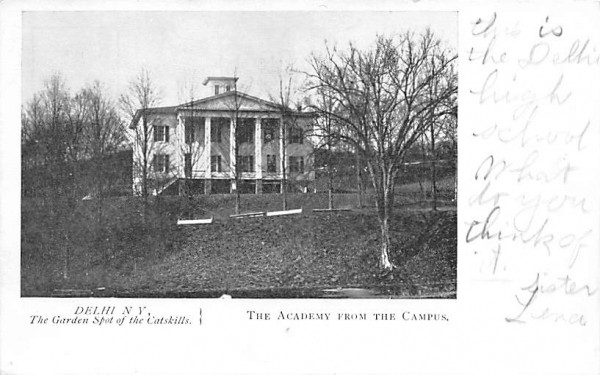 Academy from the Campus Delhi, New York Postcard