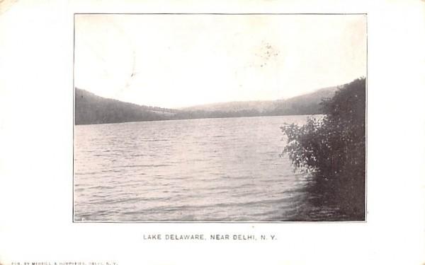 Lake Delaware Delhi, New York Postcard