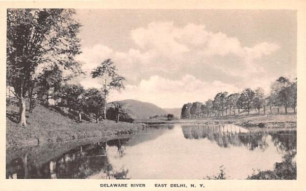 Delaware River Delhi, New York Postcard