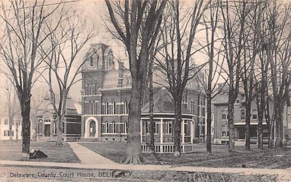 Delaware County Court House Delhi, New York Postcard