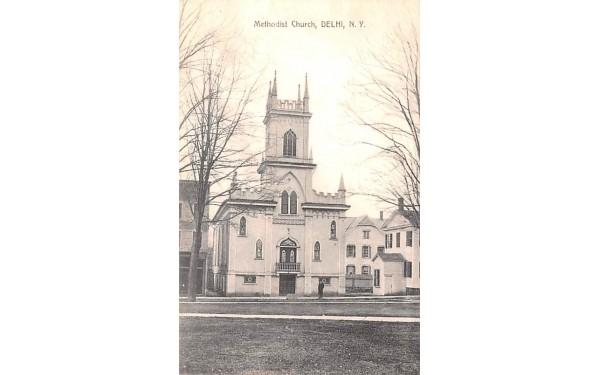 Methodist Church Delhi, New York Postcard
