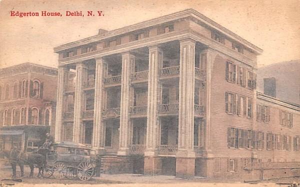 Edgerton House Delhi, New York Postcard