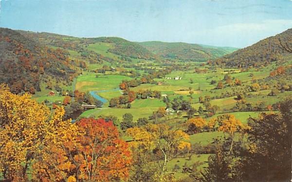 Fall in the Valley Delhi, New York Postcard