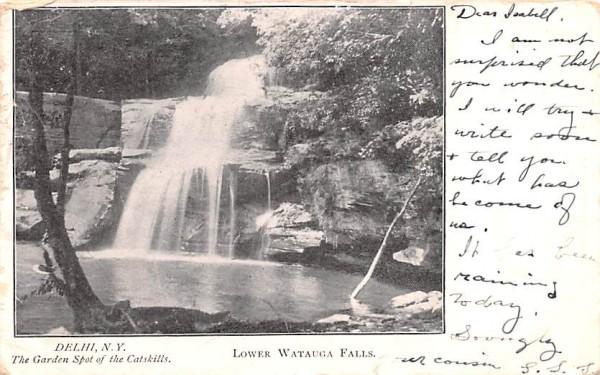 Lower Watauga Falls Delhi, New York Postcard