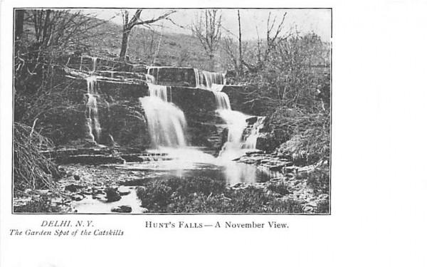 Hunt's Falls, November View Delhi, New York Postcard