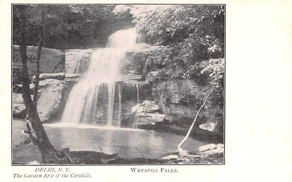 Watauga Falls Delhi, New York Postcard