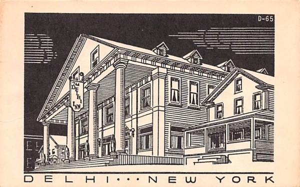 Delhi Inn New York Postcard